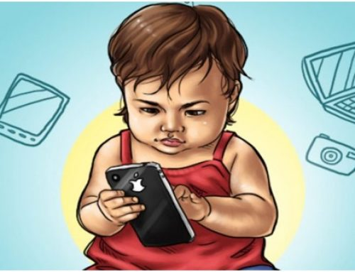 Experts say  giving your baby a mobile phone is like giving him a gram of cocaine